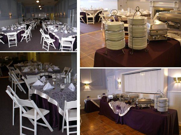 Indoor Wedding.  Tables, chairs, linens, dinnerware, buffet ware, and full service set-up.