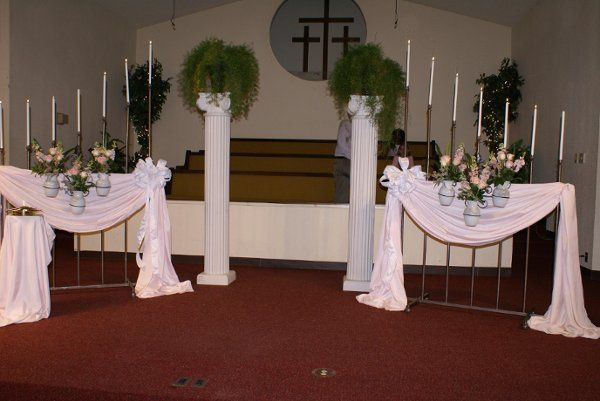 Ceremony. Candelabra and full set up