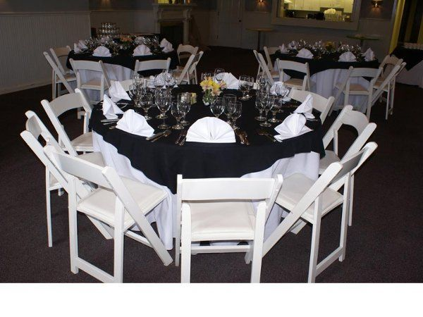Indoor Wedding. Table, Chair, Linen and Dinner ware rental.  Full service set up.