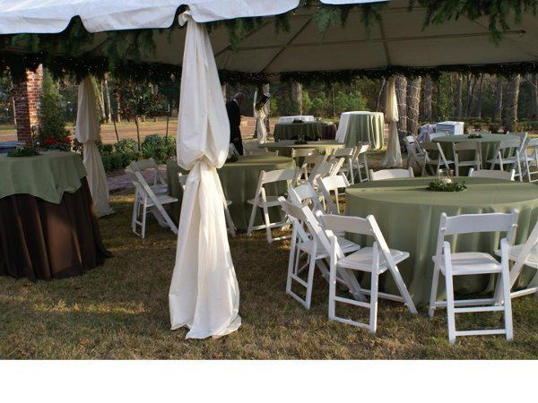 Outdoor Wedding we provided rentals for and set up.