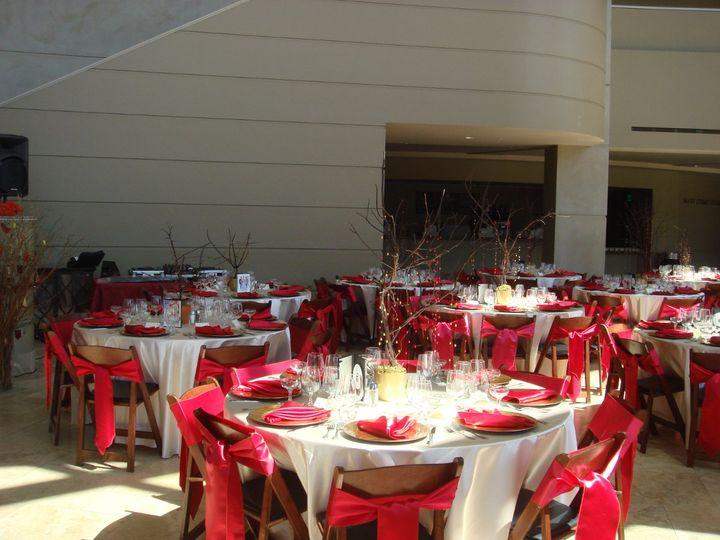 Wedding rception area