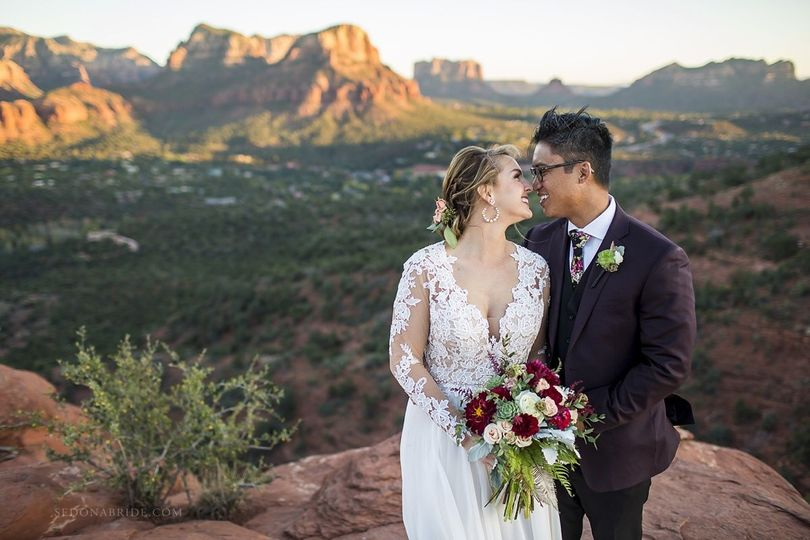 Sedona wedding photography near Agave of Sedona by Katrina and Andrew at Sedona Bride Photographers...