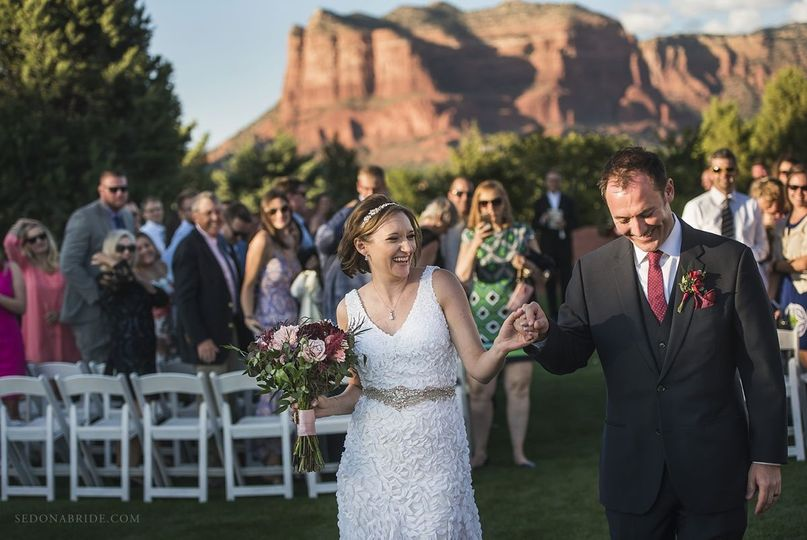 Sedona Golf Resort wedding photos by Sedona Bride Photographers