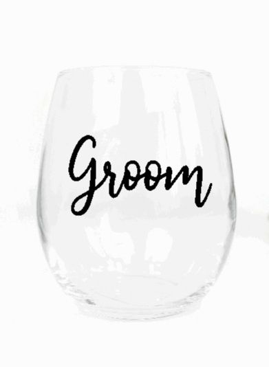 Groom Glass-etched or Vinyl