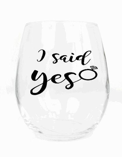 I said Yes Glass