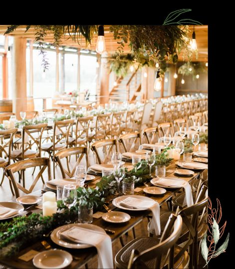 Rustic wedding banquet