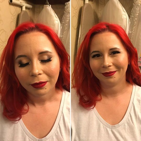Before and after of Dove
