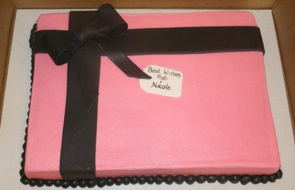 Gift Box Bridal Shower Sheet Cake.