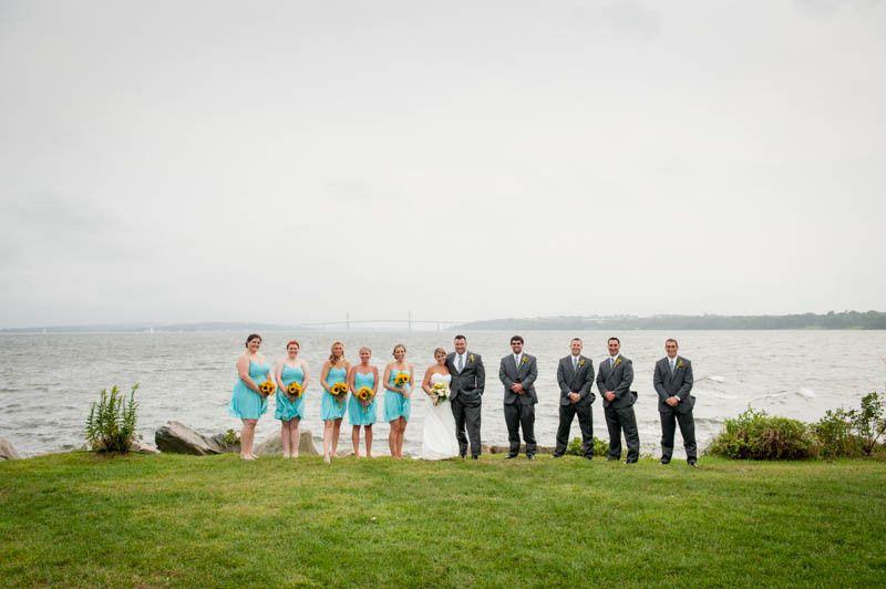 bridal party beach wedding 1