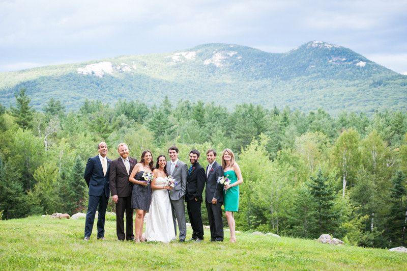 bridal party white mountains 1