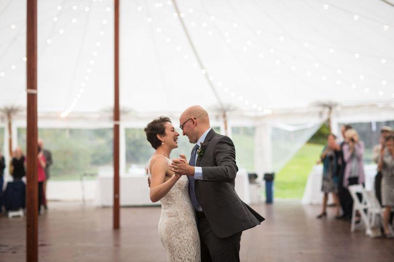 Dancing tent wedding