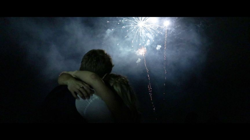 Kiss and fireworks