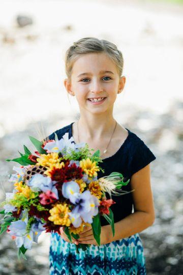 Fall flower girl