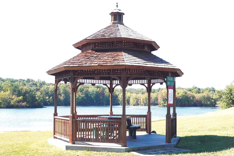 Gazebo nearby the lake