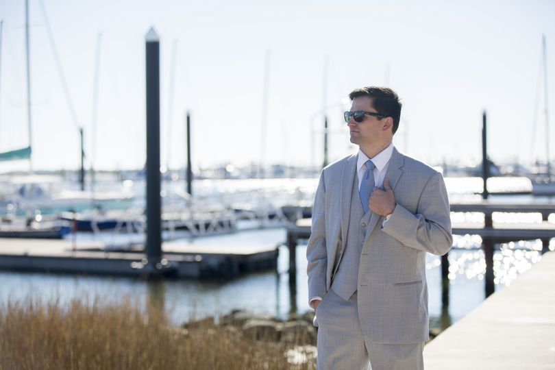 Groom walking down the dock