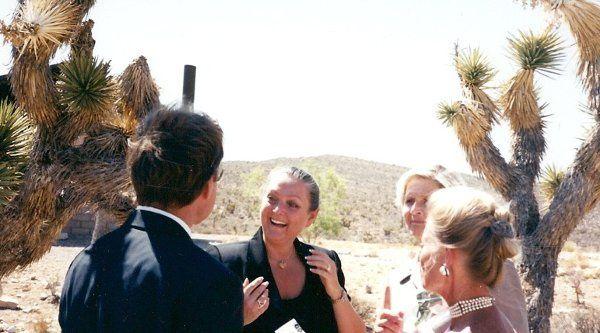 Red rock canyon wedding