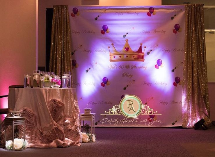 Personalized back drops