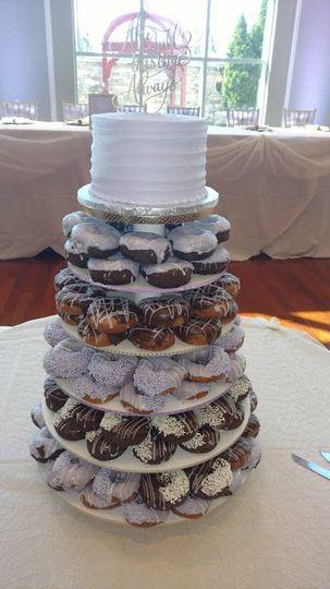 Cake donut tier
