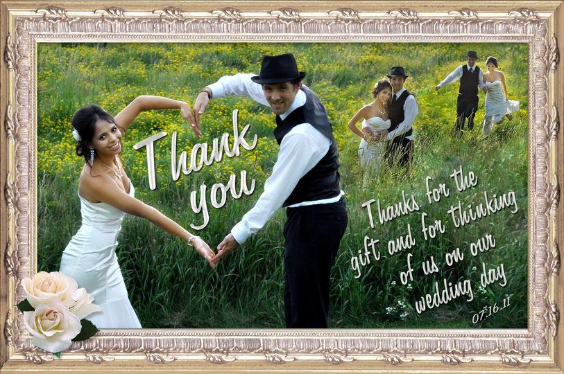 thank u card wedding