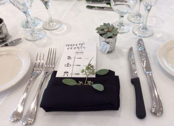 Floral Accents on Placesetting