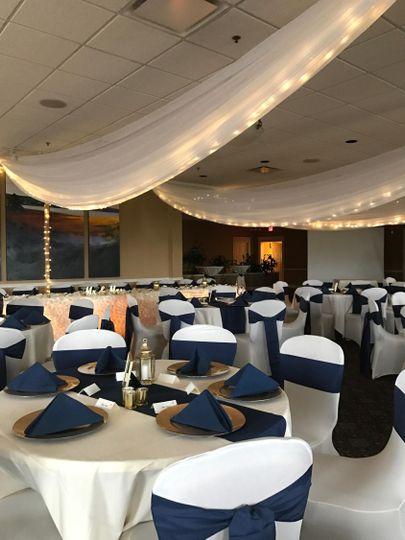 Reception decor & draping