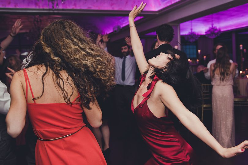 Dancing bridesmaids
