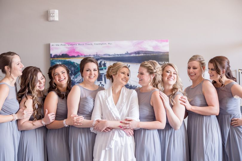 The bridesmaids.