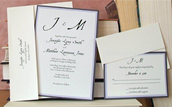 Tmx 1282878092438 Combolavendargraylarge Longmont wedding invitation