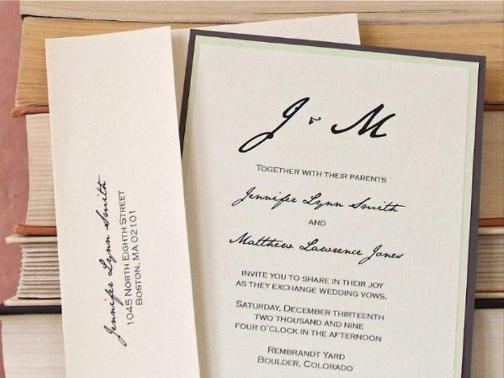 Tmx 1282878104016 Sololightgreengraylarge Longmont wedding invitation