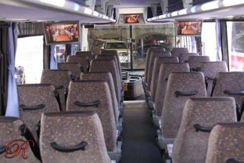 34 passenger bus interior