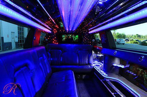Stretch limousine interior