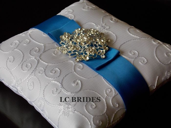 Crystal Brooch Ring Bearer Pillow.