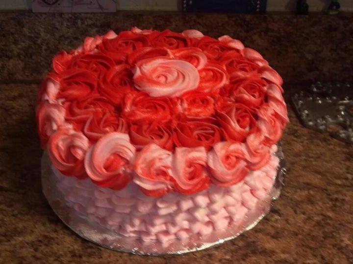 Tmx 1400822188474 Roses And Ruffle San Antonio wedding cake