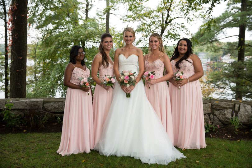 Lovely bride and bridesmaids