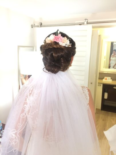 A pretty updo with