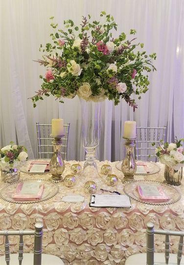 Dainty table setup