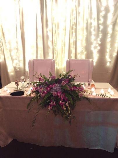 Bridge & Groom sweetheart table