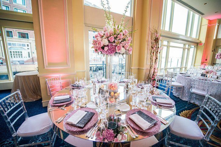 Boston harbor wedding