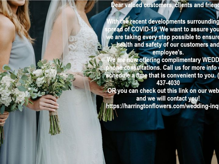 Tmx Corona Virus Wedding 51 431409 158522961049774 Londonderry, New Hampshire wedding florist