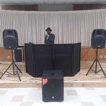 Booth setup and sound system