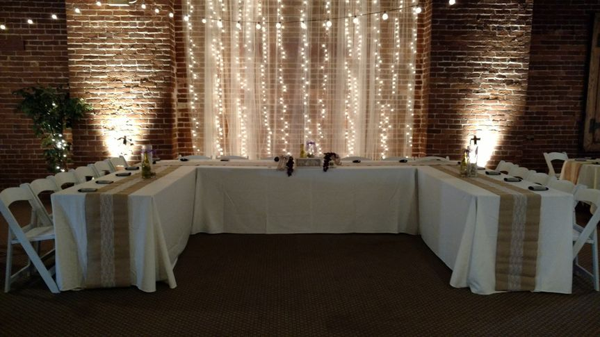 Wedding table setup