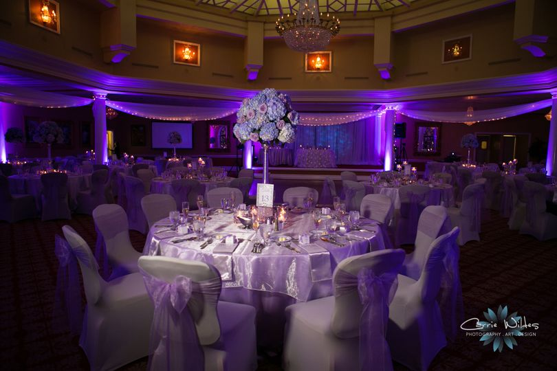 Purple reception lighting