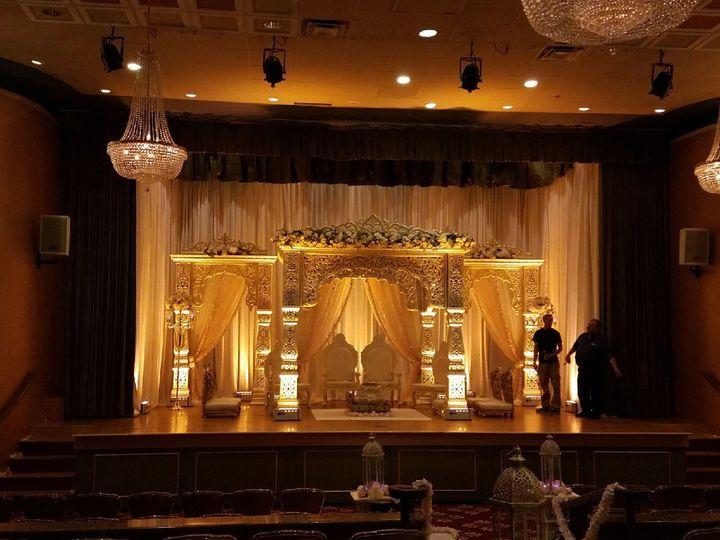 Wedding altar on stage