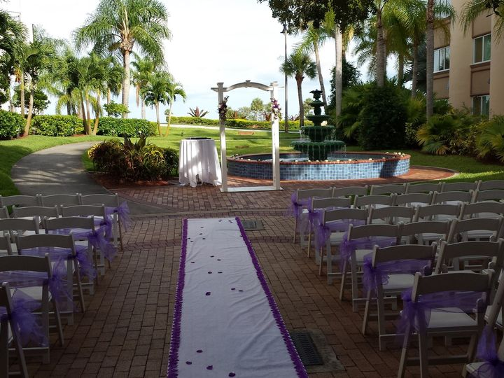 Tmx 1484604706850 Piazza  Lanser Ceremony Site2 Safety Harbor, Florida wedding venue