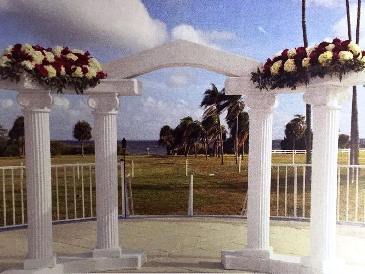 Tmx 1484604724014 Roman Arch With Flowers Safety Harbor, Florida wedding venue