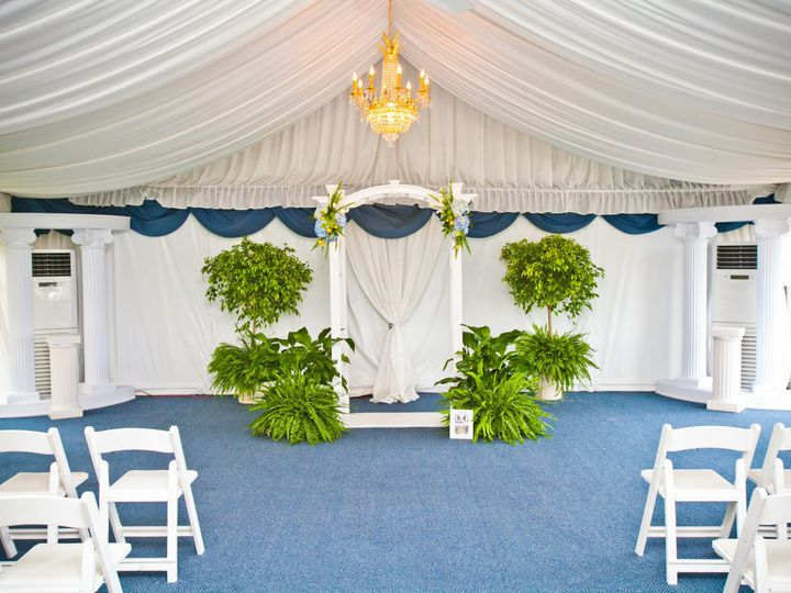 Tmx 1484605313150 Tent Ceremony With Chairs Safety Harbor, Florida wedding venue
