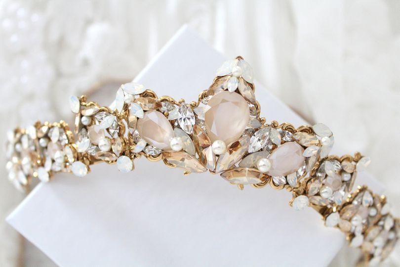 Vintage style Swarovski tiara