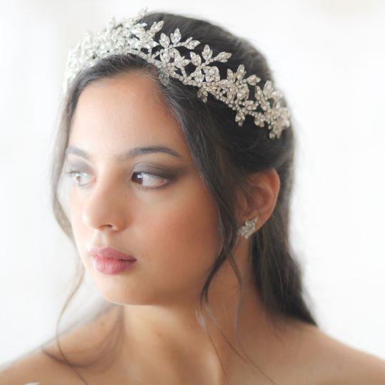 Silver vine style tiara