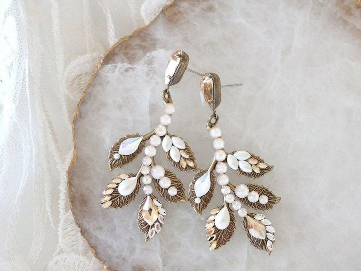 Tmx Antique Gold Bridal Chandelier Earrings Bb0fe133 4889 48ee 99dc Fb0f739d217c 794x703 51 204409 158446417929356 Allentown, PA wedding jewelry
