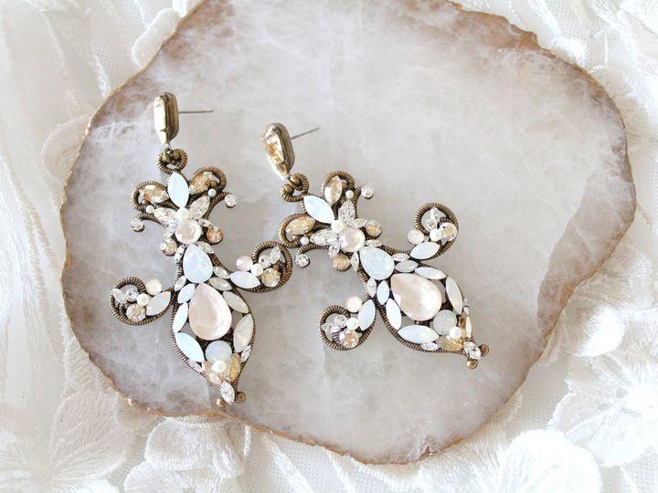 Tmx Antique Gold Fluer De Lis Bridal Earrings 51 204409 157454895512314 Allentown, PA wedding jewelry